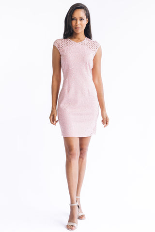 Filigree Mesh Mock Neck - W5480501