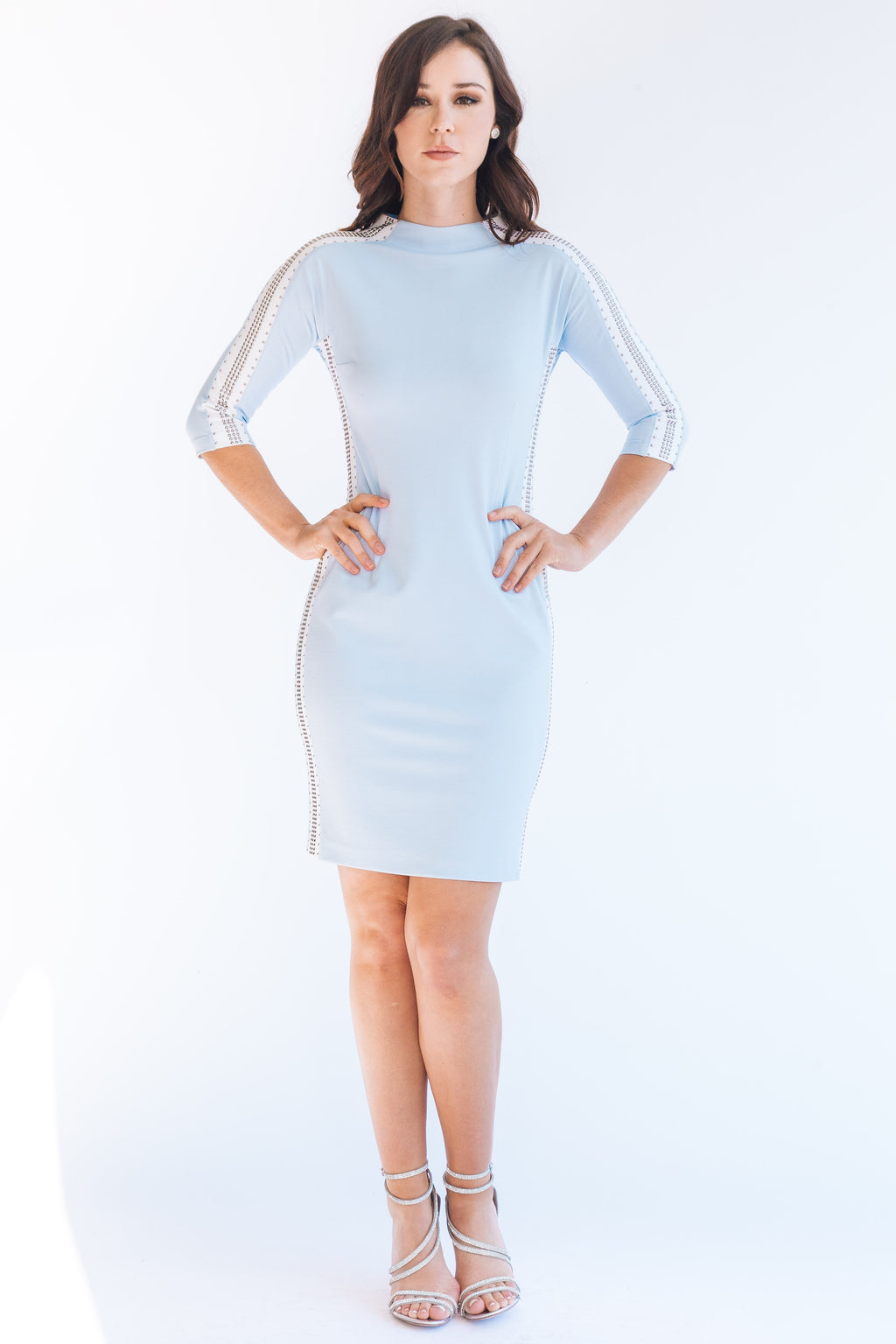 Domestud Racing Stripe Dress - W1480207