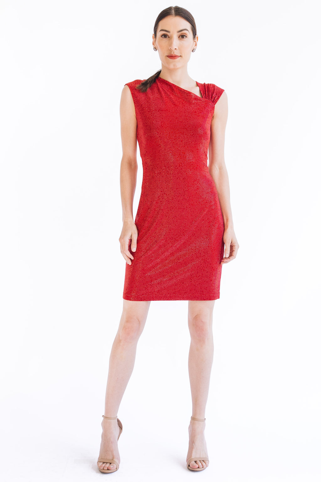 Crystal Fire Asymmetrical Dress - W1490907