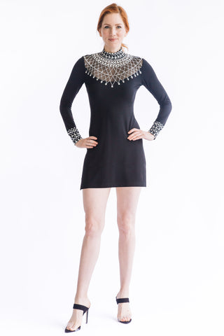 Pave Flutter Sleeve Dress - W1450304