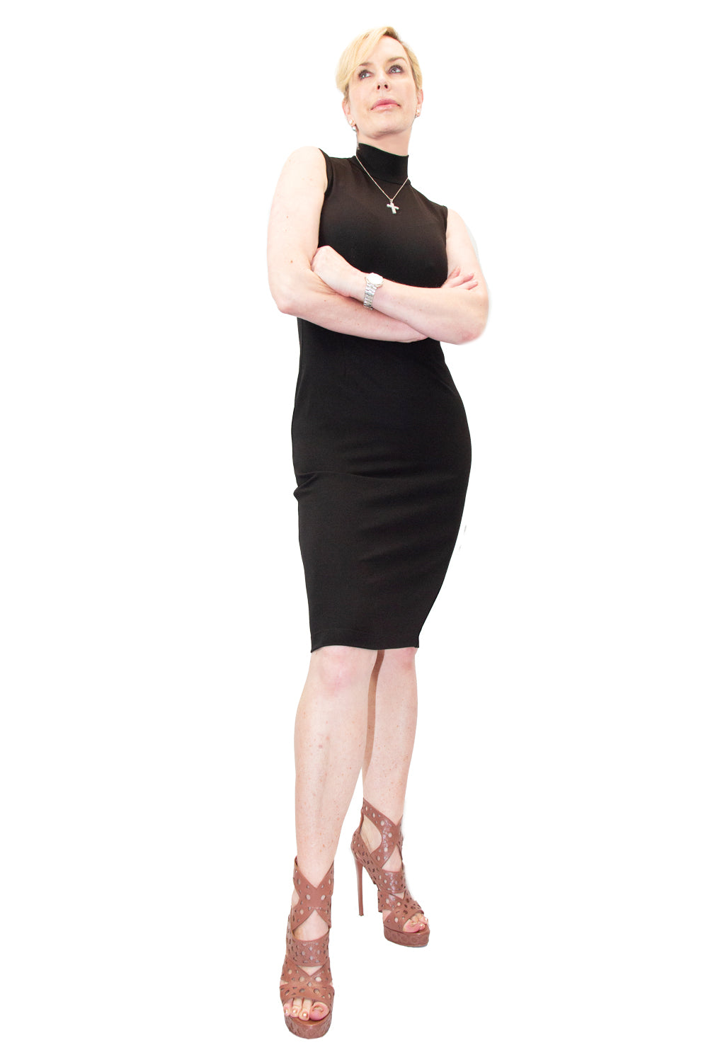 Stretch Crepe Body Dress - W1500305