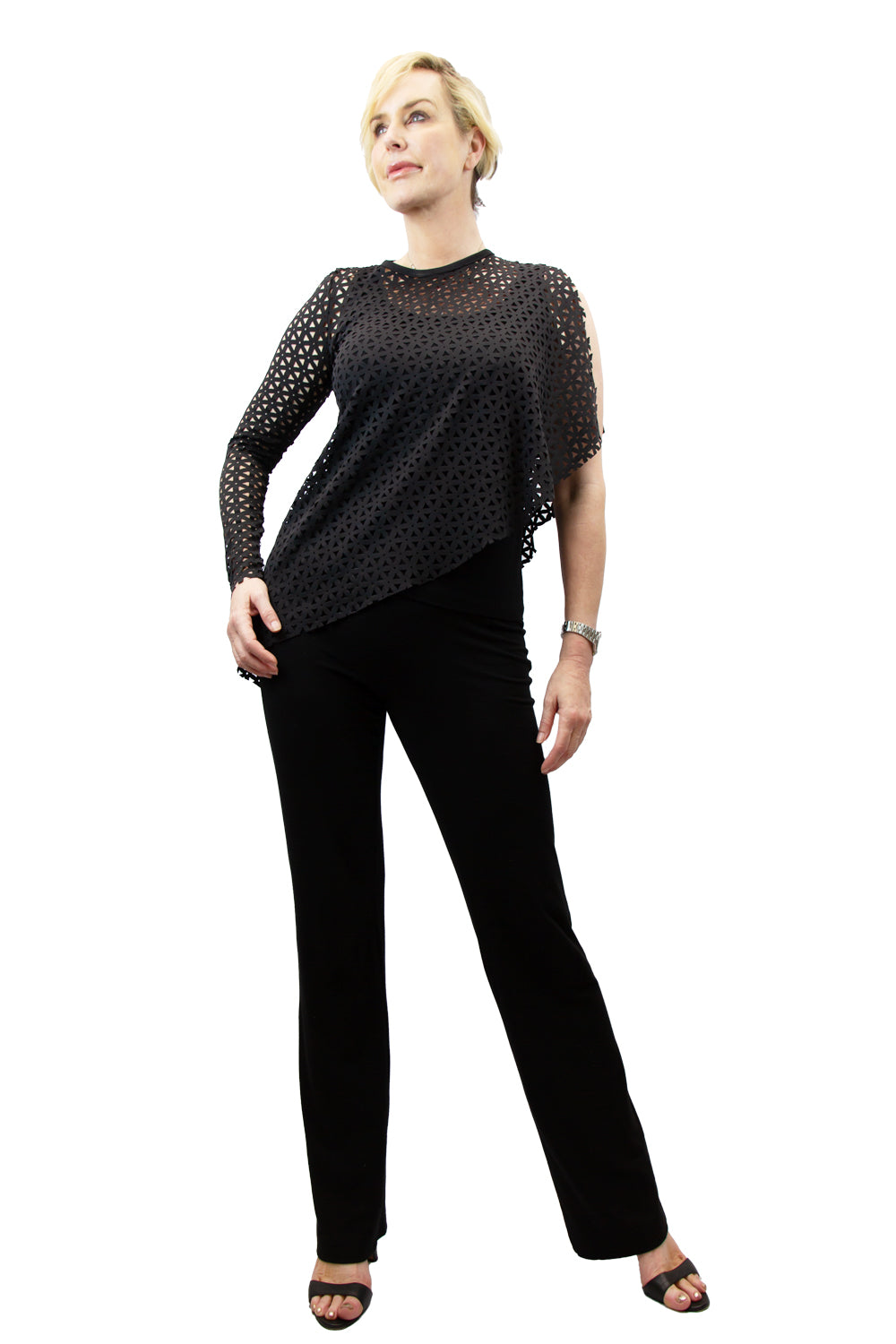 Asymmetrical Laser Cut Top - W5421113