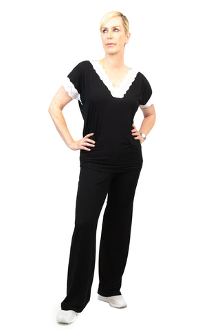 Reversible Rib Keyhole Top - W8500801