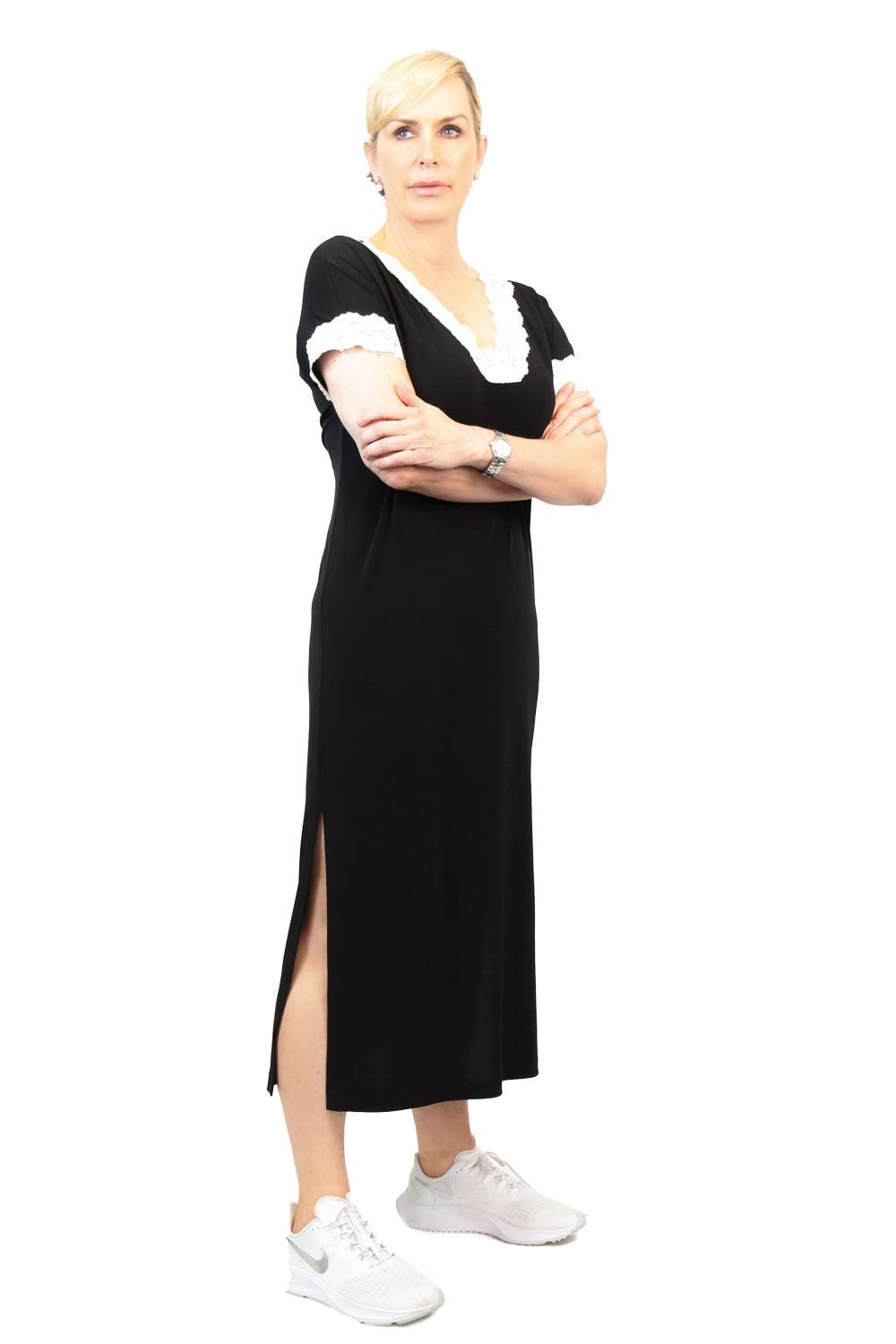 Georgia Jersey Maxi Lounge Dress