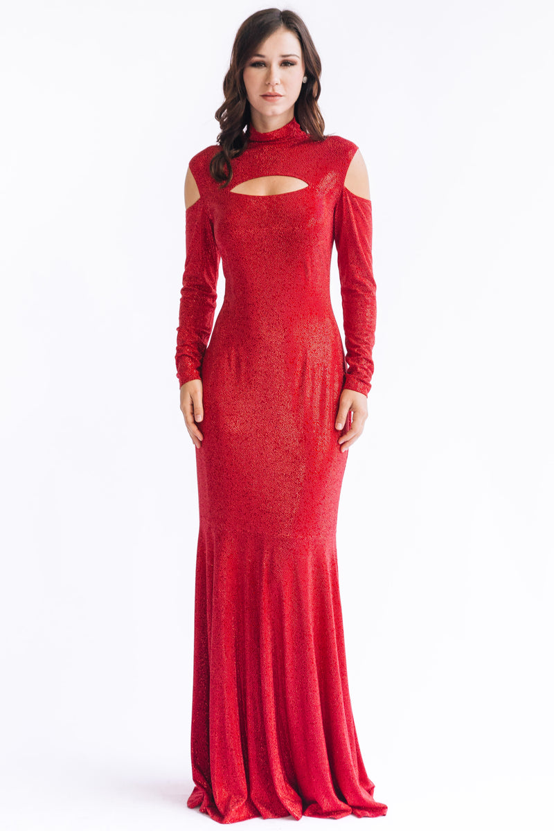 Crystal Fire Harness Gown - W1480611