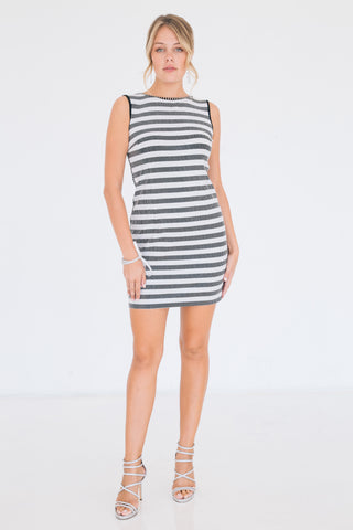 Pave Vivid Stripe Dress - W1460807