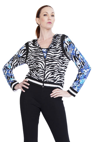 3/4 Sleeve Baguette Stripe Top - W5500501