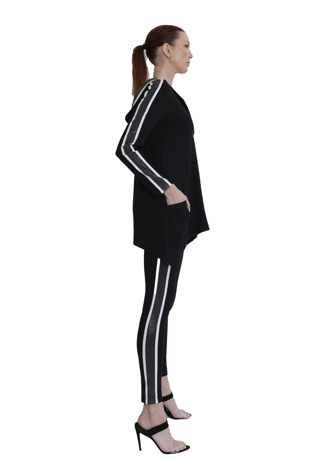 Pave Crystal Stripe Legging - W4500401