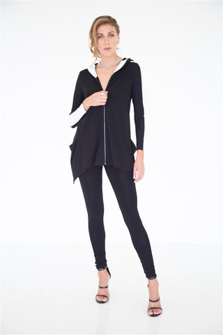 Pleated Sleeve Wrap Jacket - W2500301