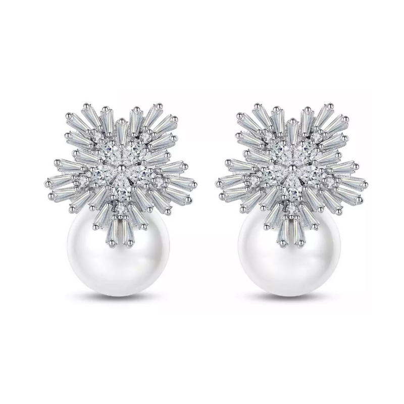 Starburst Pearl Earrings - J1430907