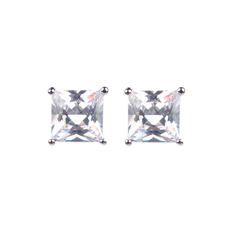 Princess Cut Diamante Earrings - J1430909