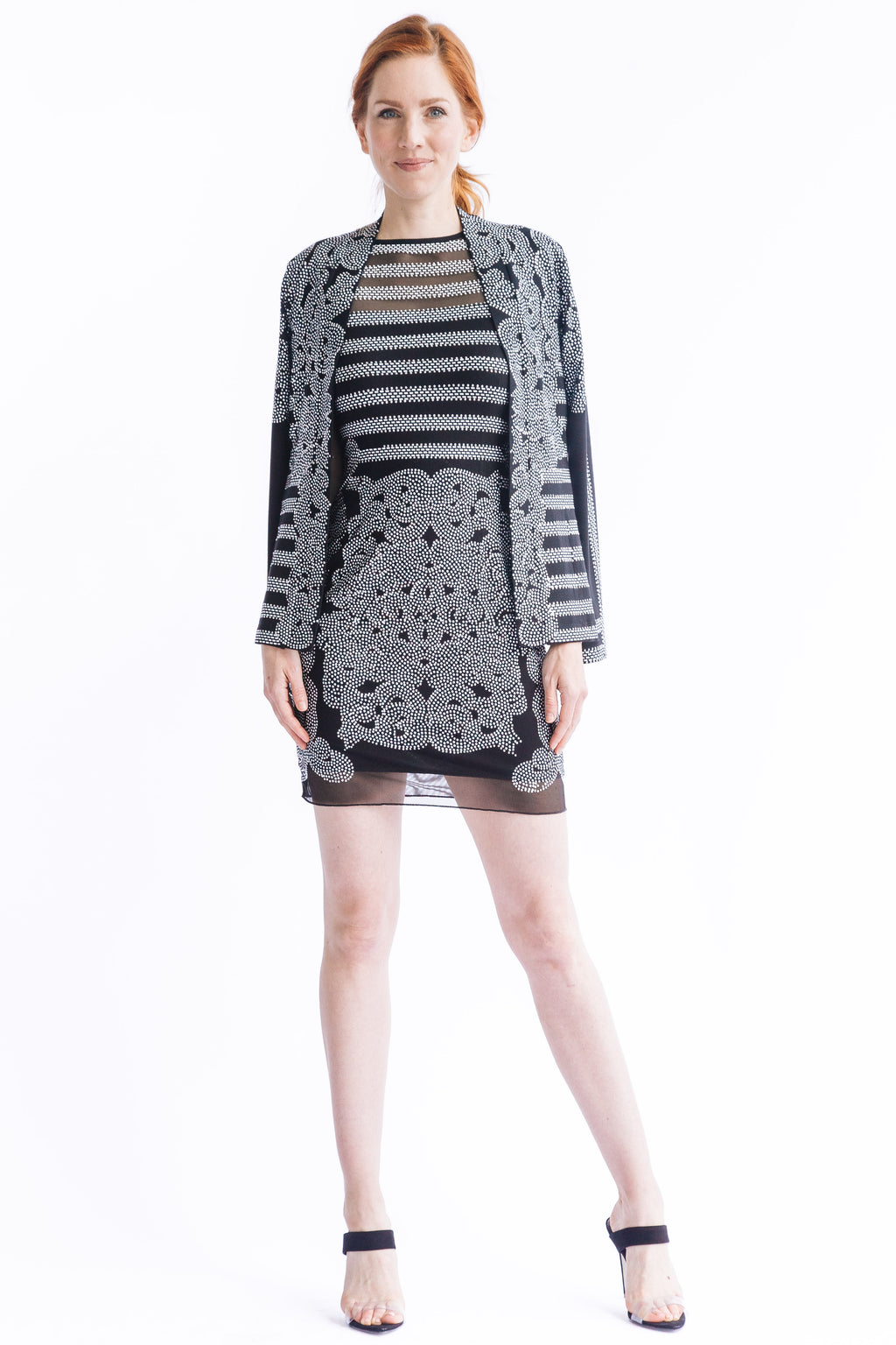 Filigree Stripe Cardigan - W2480502