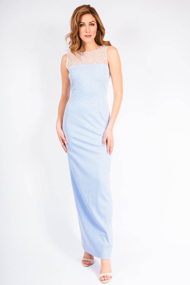 Pearl Ponte Gown - W142P001