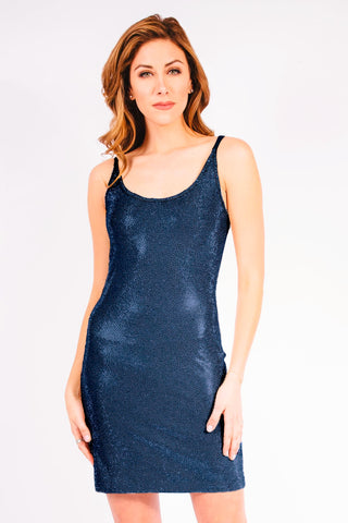 Metallic Shards Cocktail Dress - W1460809