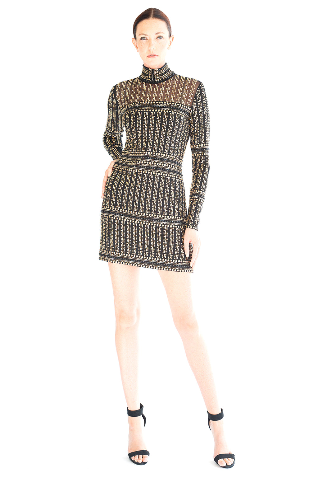 Gladiator Mock Neck Dress - W1490911