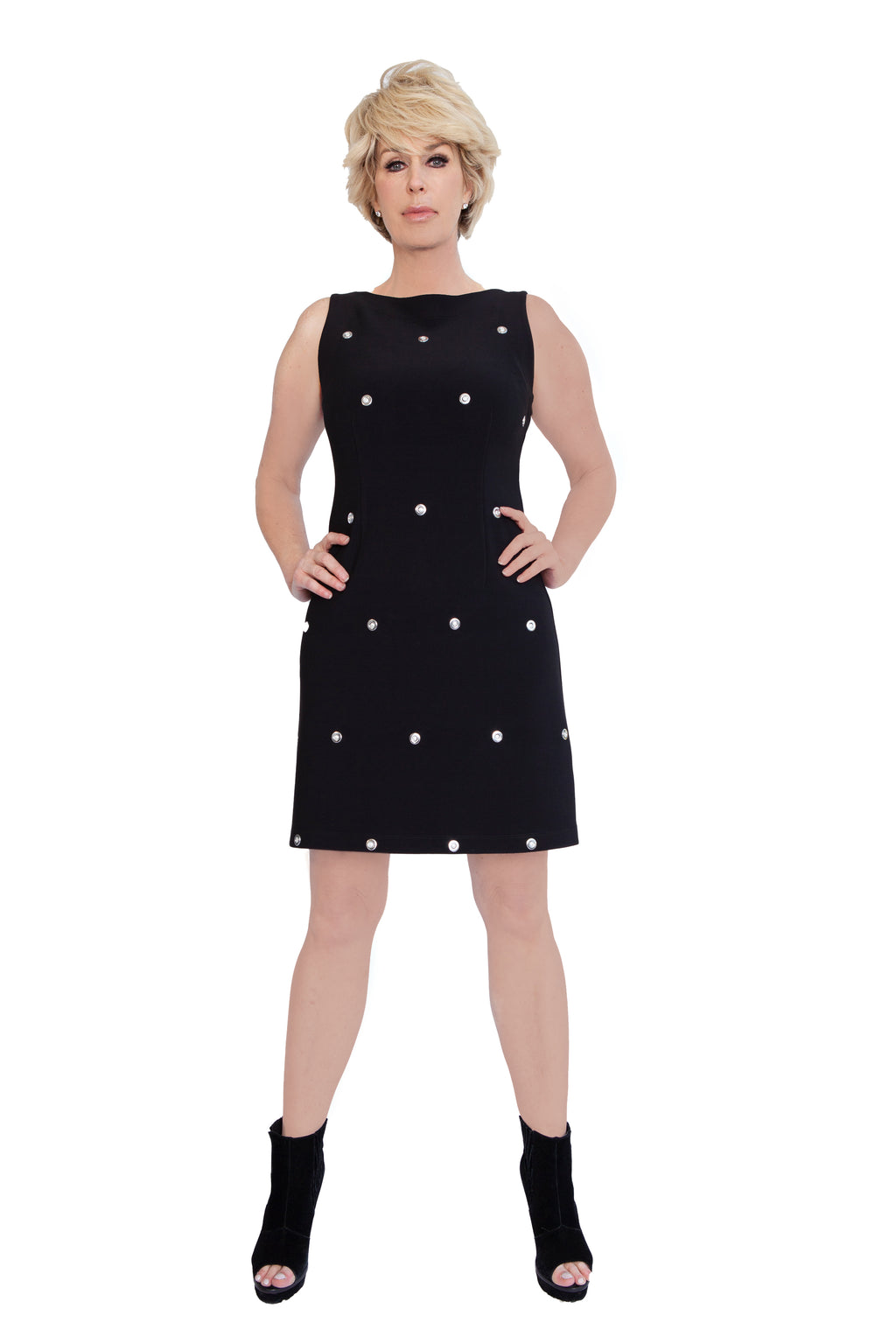 Stretch Grommet Sleeveless Dress - W1500103