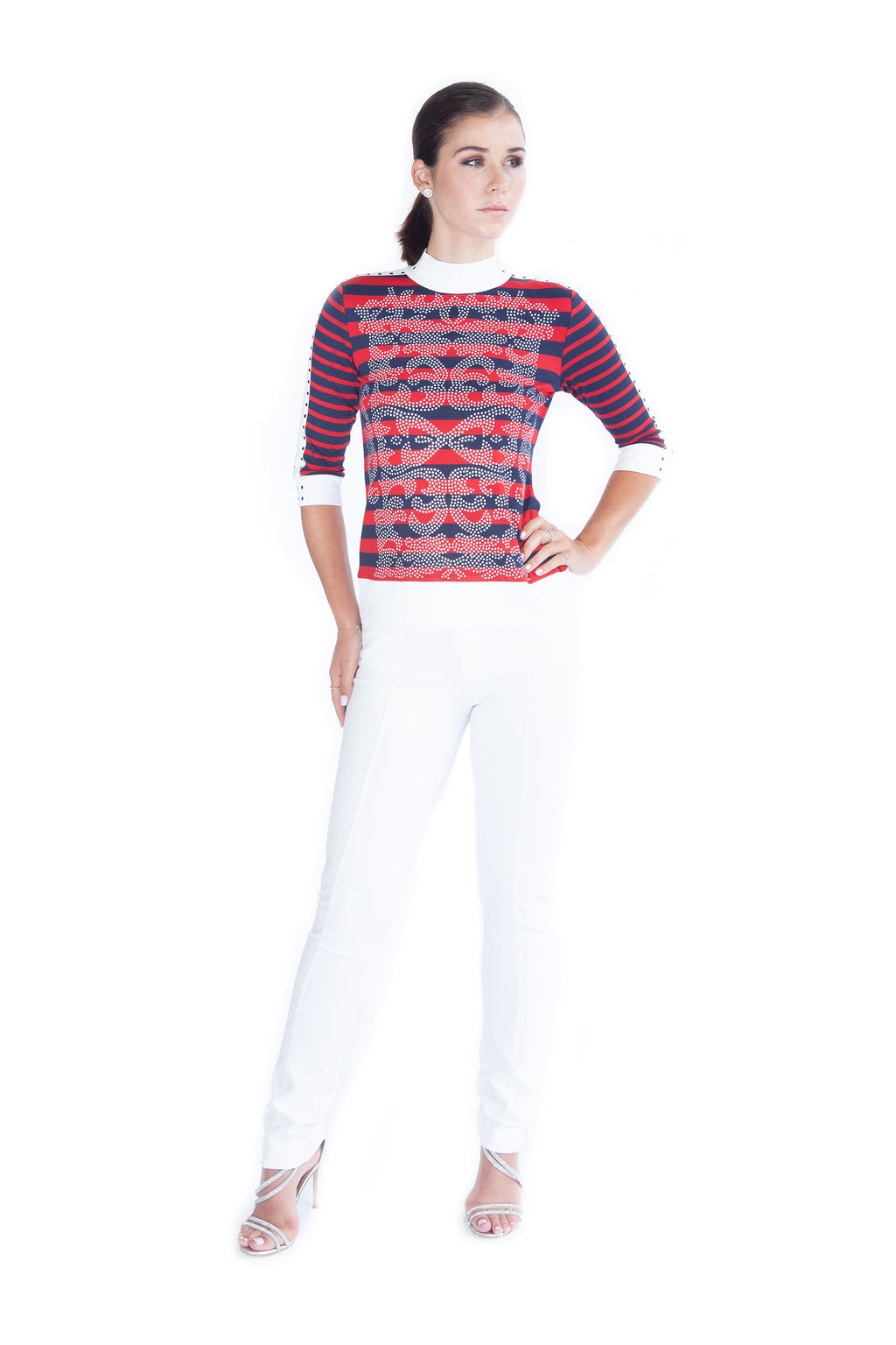 Filagree Stripe Top - W5491207