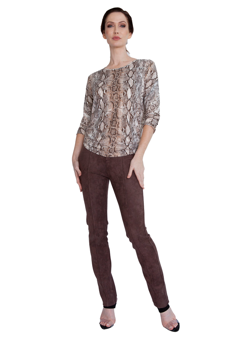 Metallic Python Easy Wear Top - W5500904