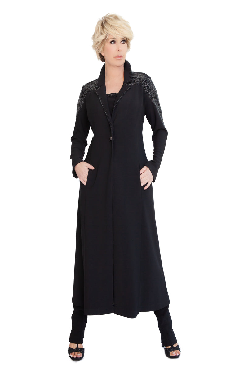 Venetian Filigree Long Coat - W950031