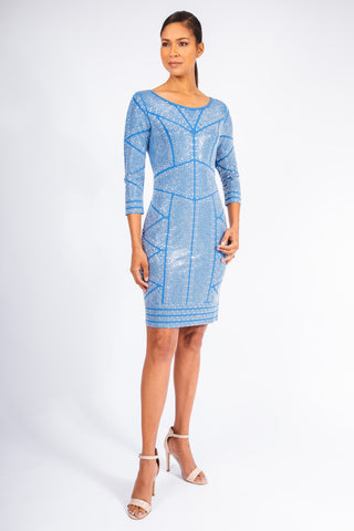 Pave Column Cocktail Dress - W1411017