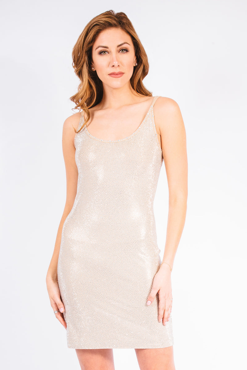 Pave Stingray Strappy Tank Dress - W1450405