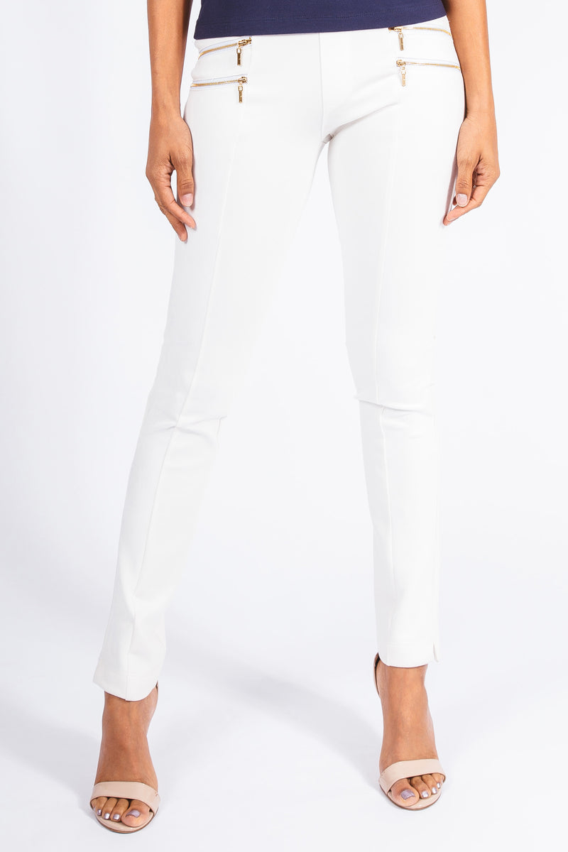 Faux Suede Double Zip Pant - W4420408
