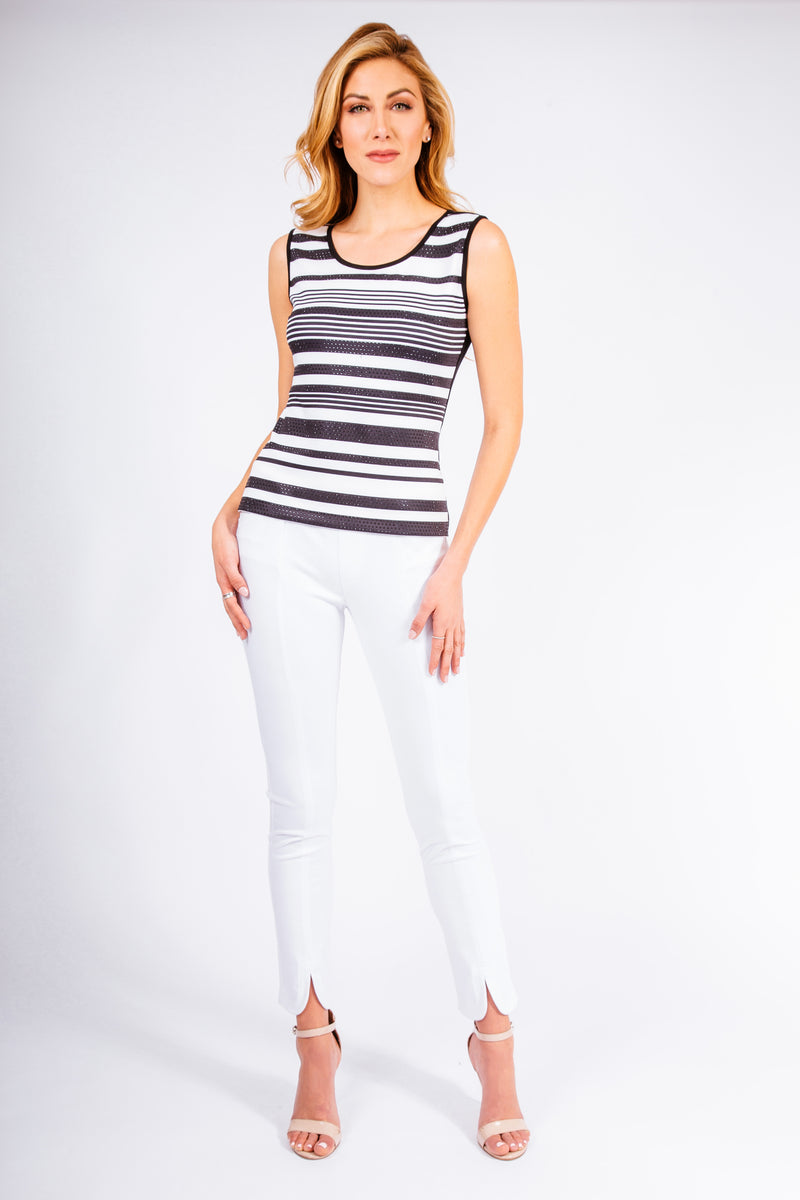 Pave Stretch Jersey Stripe Tank - W8420301