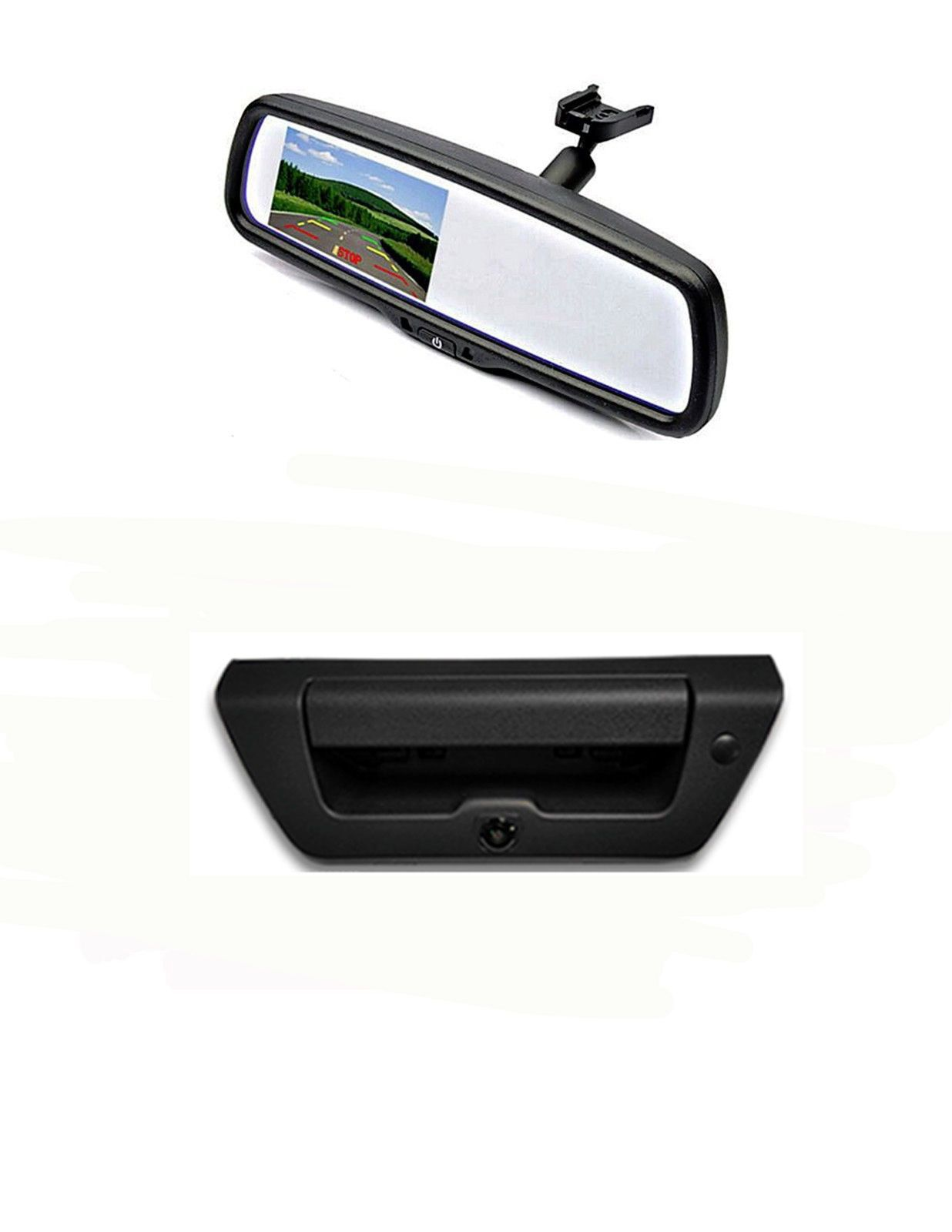 "TAILGATE BACKUP CAMERA & 4.3"" HD MIRROR MONITOR FOR 2015-2017 FORD F150 TRUCKS"