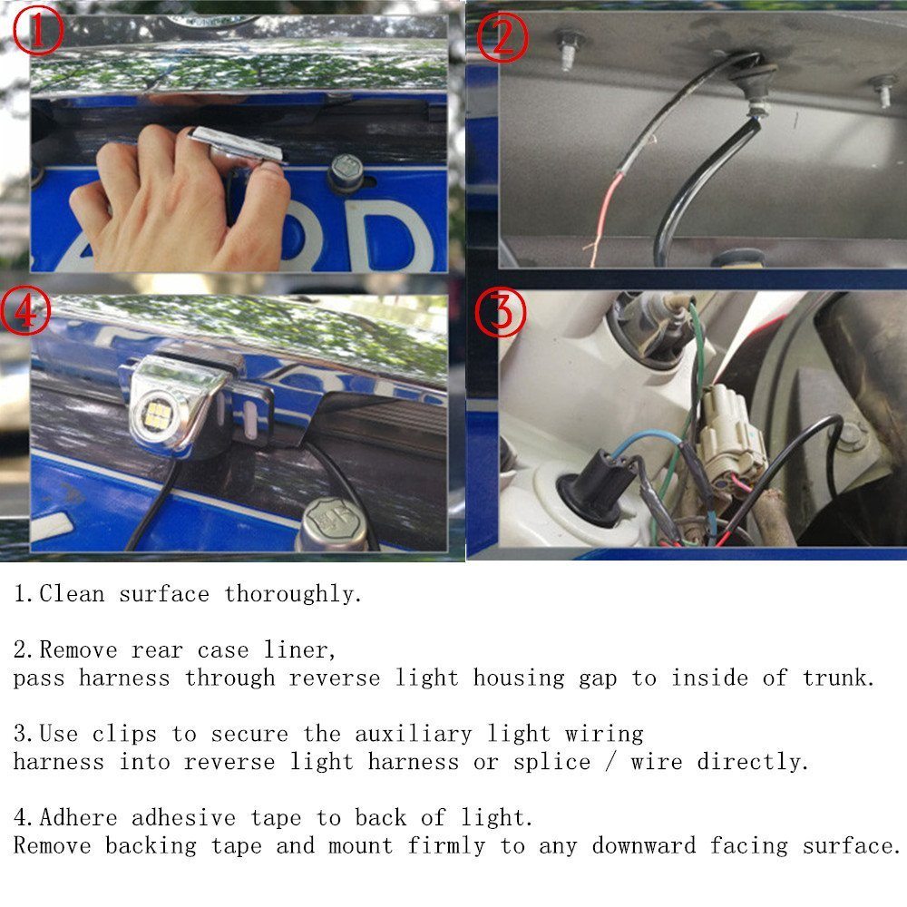 Super Bright 6 Led Backup Camera Illumination Light Tailgate Alpine Wiring Diagram