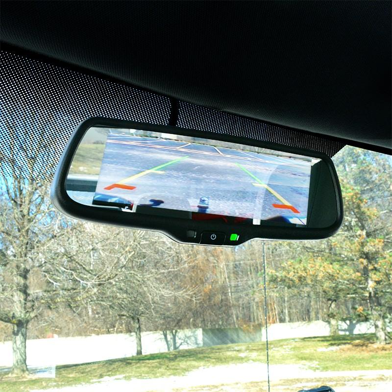 "7.3"" LCD Video Display Mirror WITH 3 INPUTS DUAL SCREEN"