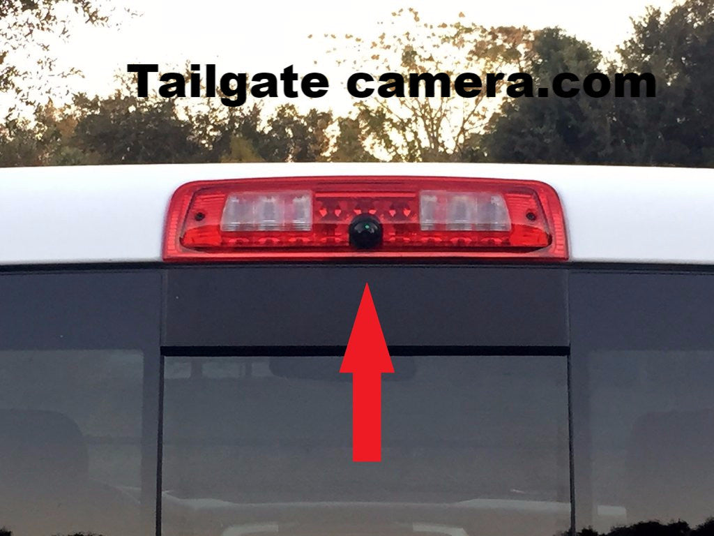 3rd Brake Light Cargo Camera for 2009-2018 Dodge Ram Trucks with RCA cable