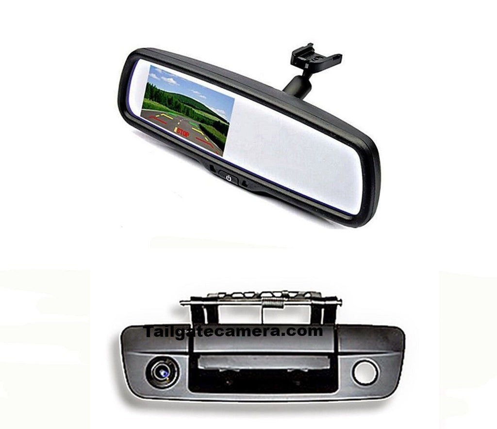 Tailgate Backup Camera & 4.3 Mirror Monitor for 2009-2018 Dodge Ram Truck