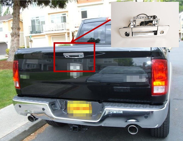 Dodge Ram Chrome Tailgate Handle Rear View Back Up Camera