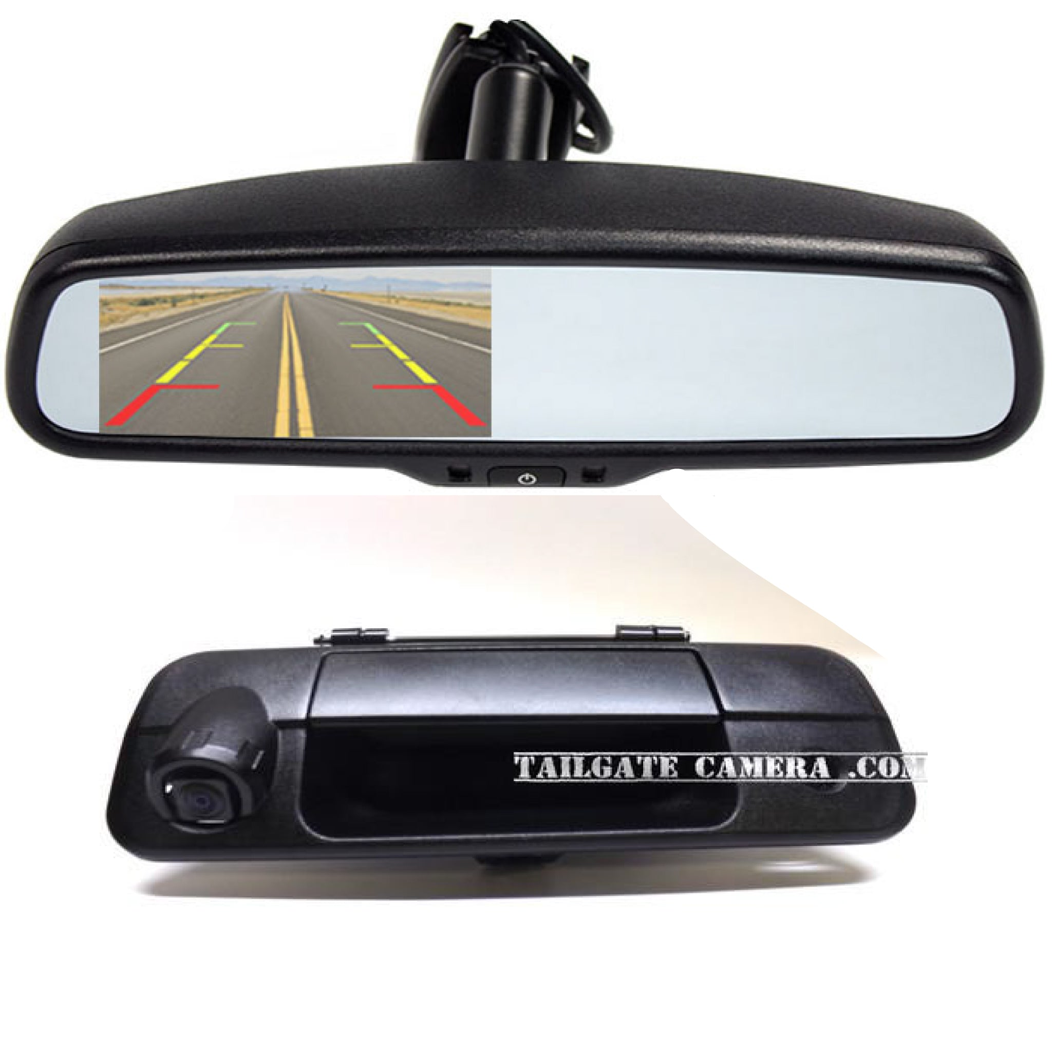 TAILGATE BACKUP CAMERA AND 4.3 MIRROR MONITOR FOR 2007-2013