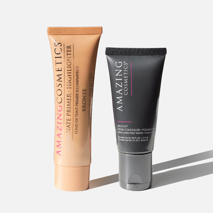 Illuminate Primer Highlighter y SMOOTH Creme Corrector & Foundation Duo