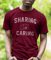 Sharing Is Caring Men's Graphic Tee - We Care