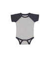 Nayked Apparel Youth Baby Ridiculously Soft Baseball One-Piece 12M / Vintage Heather/Vintage Navy / NAY-R-3044