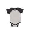 Nayked Apparel Youth Baby Ridiculously Soft Baseball One-Piece 12M / Vintage Heather/Vintage Smoke / NAY-R-3044