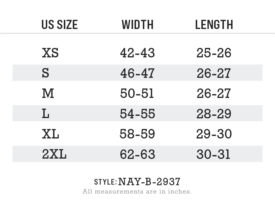 Men's Ridiculously Soft Fleece Pullover Hoodie Size Chart
