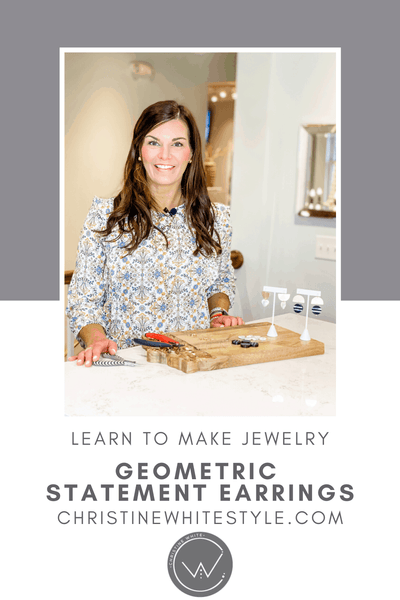 Jewelry making tutorial : geometric statement earrings