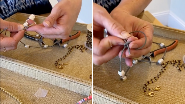 attaching clasps to leather necklace