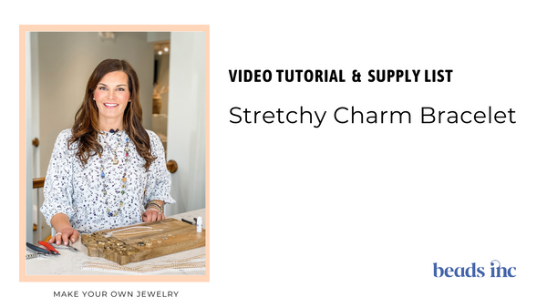 introduction photo for stretchy charm bracelet jewelry making tutorial for beginners