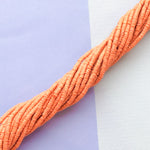 2mm Carrot Polymer Clay Strand