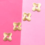 23mm Brushed Gold Quatrefoil Charm - Pack of 4