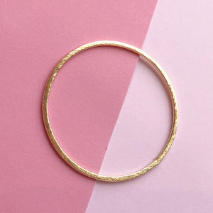 Brushed Gold Circle Large - Pack of 4 - Christine White Style