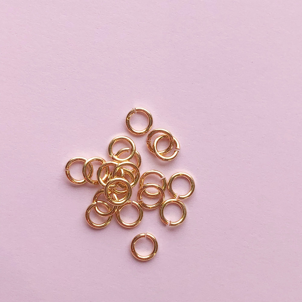 Shiny Gold Open Jump Rings - Pack of 20 - Christine White Style