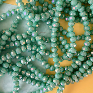 10mm Garden Spotted Dyed Jade Rounds Strand - Christine White Style