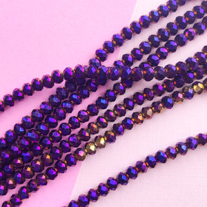 Load image into Gallery viewer, 8mm Lavender African Vinyl Disc Strand - Christine White Style