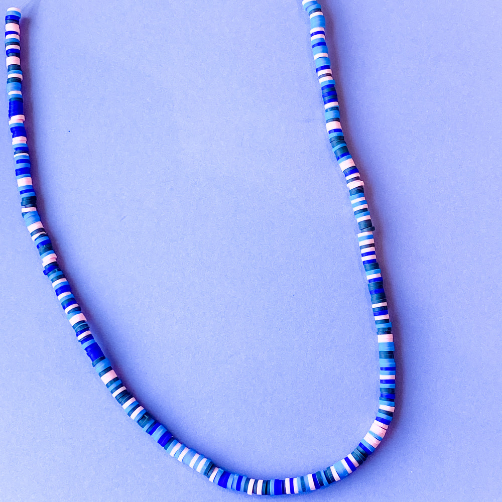 Load image into Gallery viewer, 4mm Indigo Odyssey Polymer Clay Strand