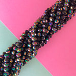 7mm Faceted Dyed Howlite Rondelle Strand - Christine White Style